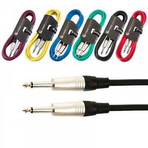 Guitar-Lead-6-35mm-Mono-Jack-to-Jack-Instrument-Cable-Patch-Lead-6-Colours