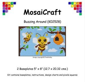 MosaiCraft-Pixel-Craft-Mosaic-Art-Kit-039-Buzzing-Around-039-Pixelhobby