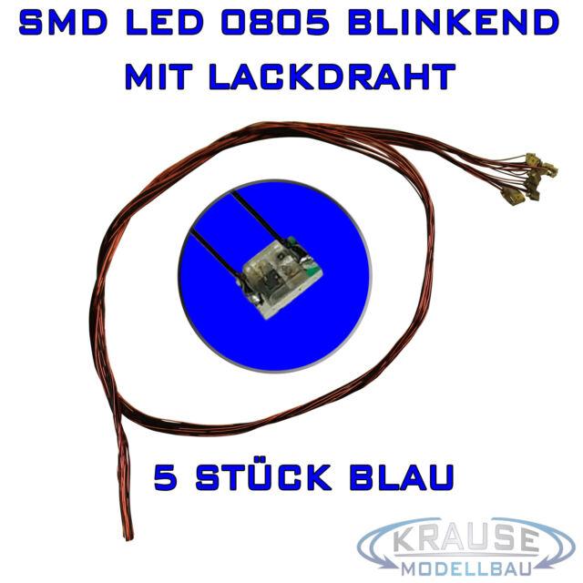 KM0151 25 Stück SMD Blink LED 0805 blau blinkend flash mit Lackdraht 0,15mm