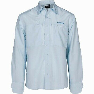 Shimano Vented Shirt Ice Grey BRAND NEW @ Ottos Tackle World