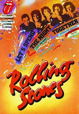 THE ROLLING STONES - Canvas Print Concert Poster- Let's Spend The Night Together