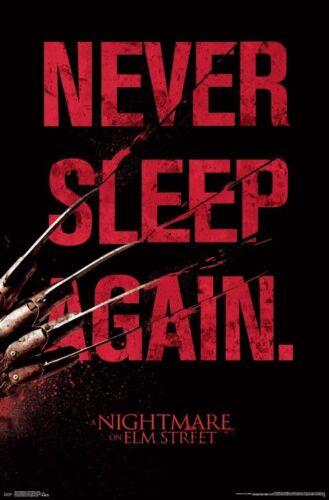 NIGHTMARE ON ELM STREET MOVIE 14925 22x34 NEVER SLEEP AGAIN POSTER