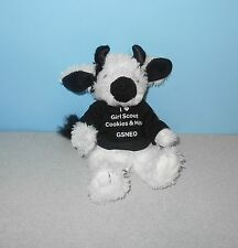 "I Love Girl Scout Cookies & Milk 7"" Dairy Cow Stuffed Plush by MJC Purr-Fection"