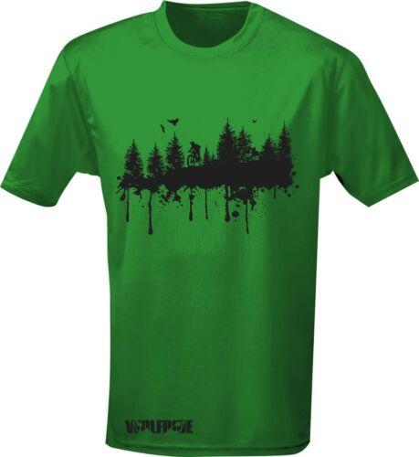 wicking Short sleeve performance t-shirt mountain bike light weight cycling