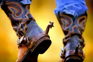Signed Rob Gage WORKING BOOTS Western Cowboy Americana Photographic Art Print