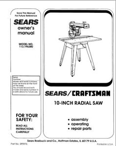 craftsman instruction manual