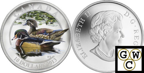 2013 Proof $10 Silver /'Wood Duck/' Coin .9999 Fine Silver 13243
