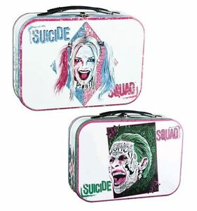 SUICIDE-SQUAD-Harley-Quinn-amp-Joker-Large-Metal-Lunchbox-Ikon-Collectables