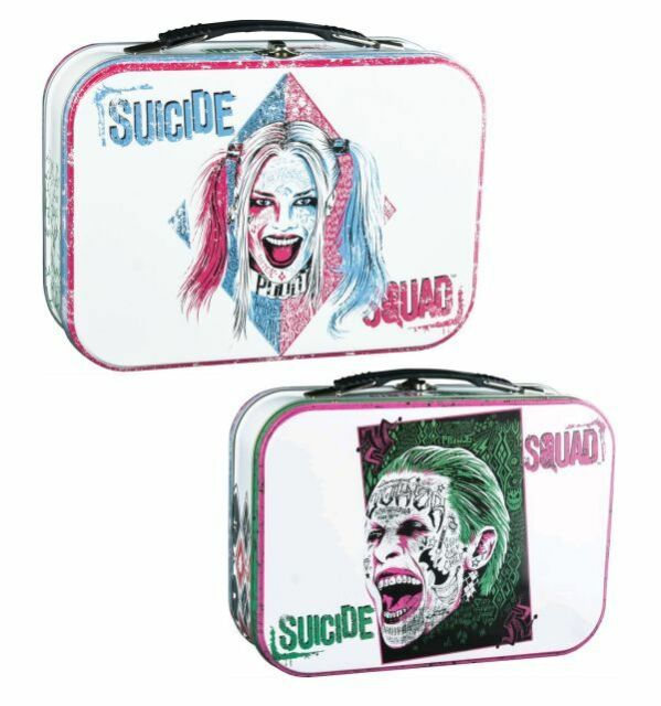 SUICIDE SQUAD - Harley Quinn & Joker Large Metal Lunchbox (Ikon Collectables)