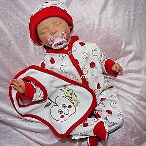 Baby Mädchen Strampler apfel Gr.50,56,62 Honesty 3 Tlg geschenkset