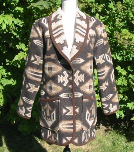 Pendleton Ladies Reversible Wool Blanket Jacket Co