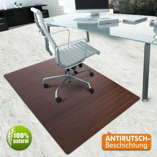 casa pura® Bambus Bodenschutzmatte rot-braun  Bürostuhlunterlage Stuhlunterlage
