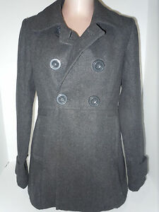 Kvinders Los Angeles Large Grey Paper Polyester Jacket Double Coat Doll Breasted 5UA5xqtw