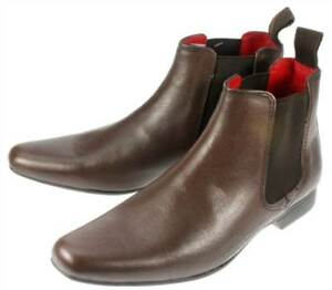 Boys Garforth Leather Pointed Toe Chelsea Boots Uk 1 6 by Ebay Seller