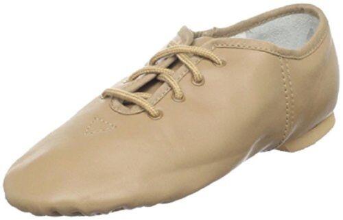 Lace Up Split-Sole Jazz Shoe Dance Class J203 Tan Adult Size 6.5M fits 6