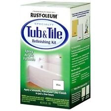 Rust Oleum Bathtub Tub & Tile Refinishing Paint Kit White Enamil Repair Sink NEW