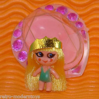 Vintage Liddle Kiddle #3741 pink HEART Pin jewelry locket + blonde mini doll