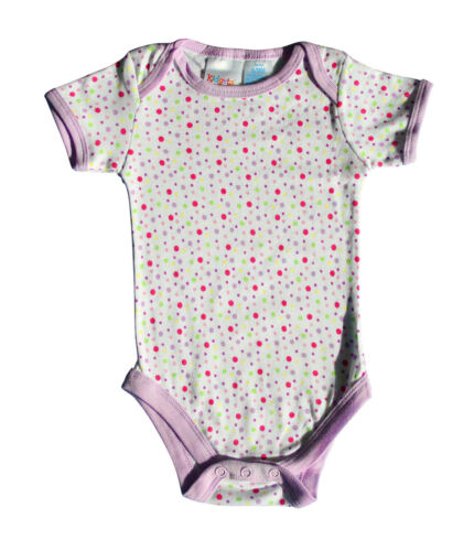 3-6 NEU 3er Set Babybody Baby Body Mädchen Junge Baumwolle Lila 0-3 6-9 Monate
