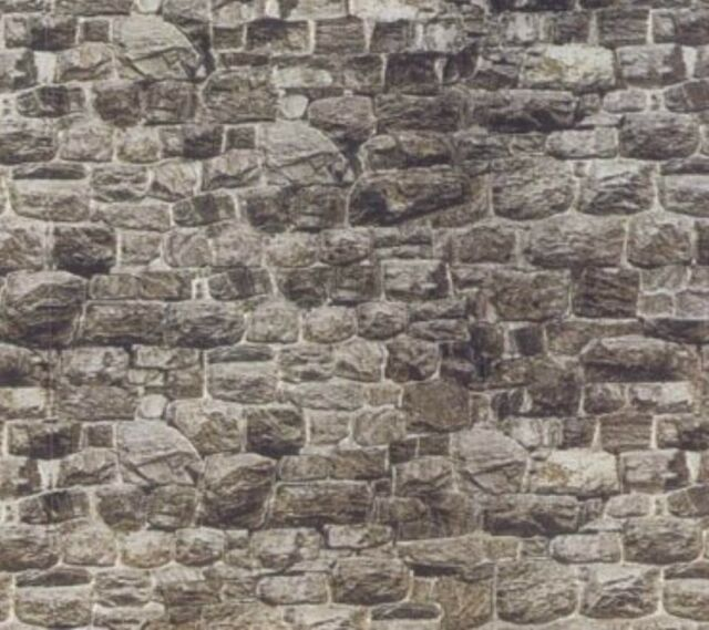 9 SHEETS G Scale 1/24   STONE WALL FOR BRIDGE ,TUNNEL 21.1x28cm SELF ADHESIVE