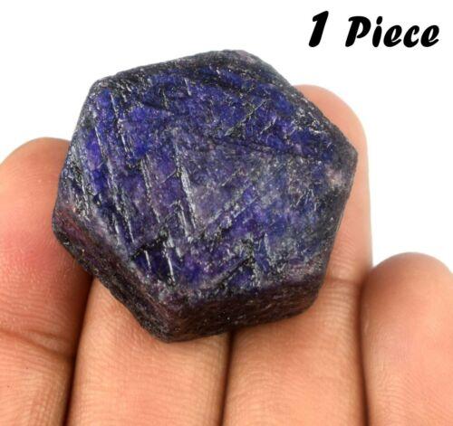 Africain 200-250 Carat Étoile Bleu Saphir Pierre Précieuse Naturel Hexagone 1