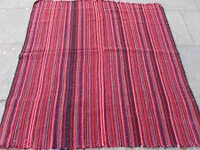 Old Tribal Nomadic Hand Made Persian Oriental Red Wool Jajim Kilim 168x160cm