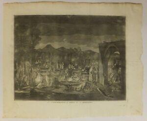 """""""la Commémoration Des Morts Chez Les Arméniens"""", Eau-forte, B. Picart, 1783"""