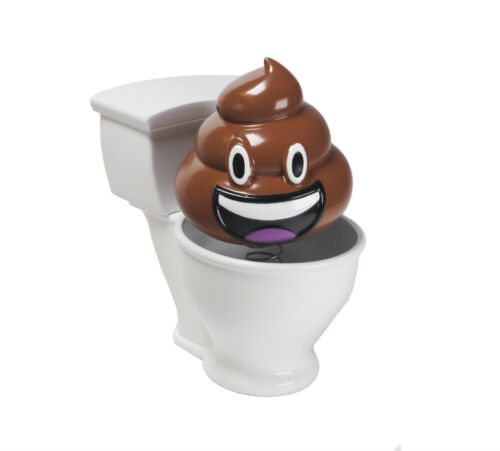 Nodding Poo Car Accessory Novelty  Bobble Head Toilet  Joke Stocking Filler