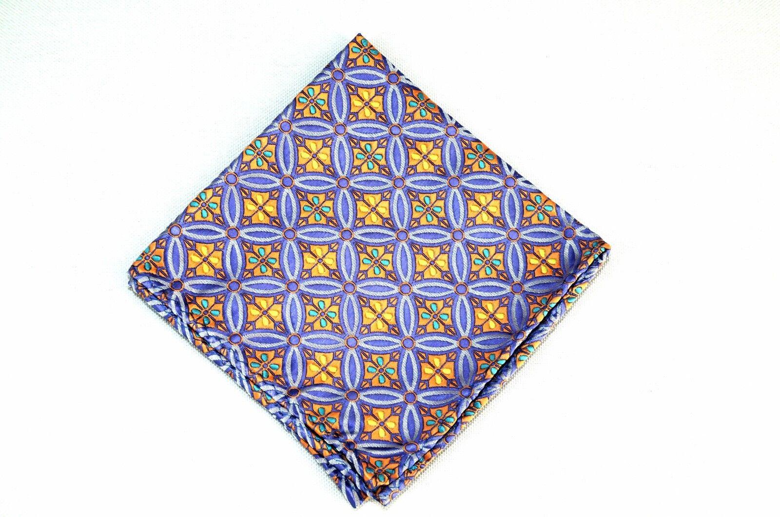 Lord R Colton Masterworks Pocket Square Salvador Amathyst Silk - Retail New