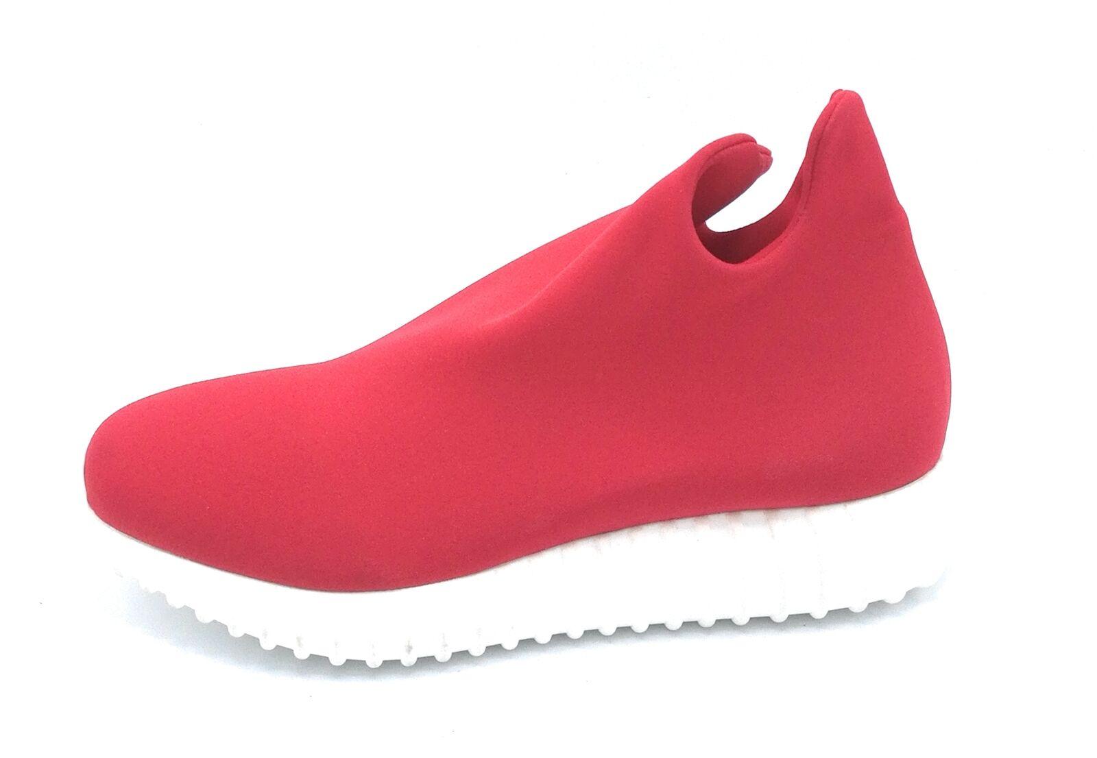 Riccianera 160 sneakers in lycra elasticizzato red   black con suola in gomma