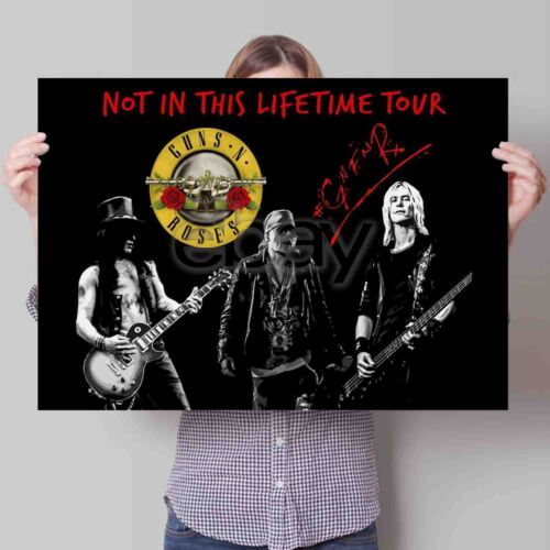 Guns N Roses Not In This Lifetime Art Poster Print Custom Wall Decor