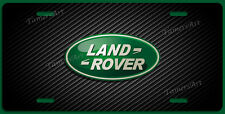 LAND ROVER LICENSE PLATE BLACK CARBON FIBER ILLUSION,  MAde in USA
