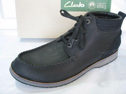 9 Mahale negro Clarks Chukka 5 13 10 12 Black 9 cuero Botines Mid de tobillo talla qEv00