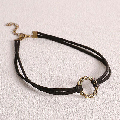 90's Black Velvet Charm Choker Necklace Gothic Punk Handmade Retro Jewelry Hot