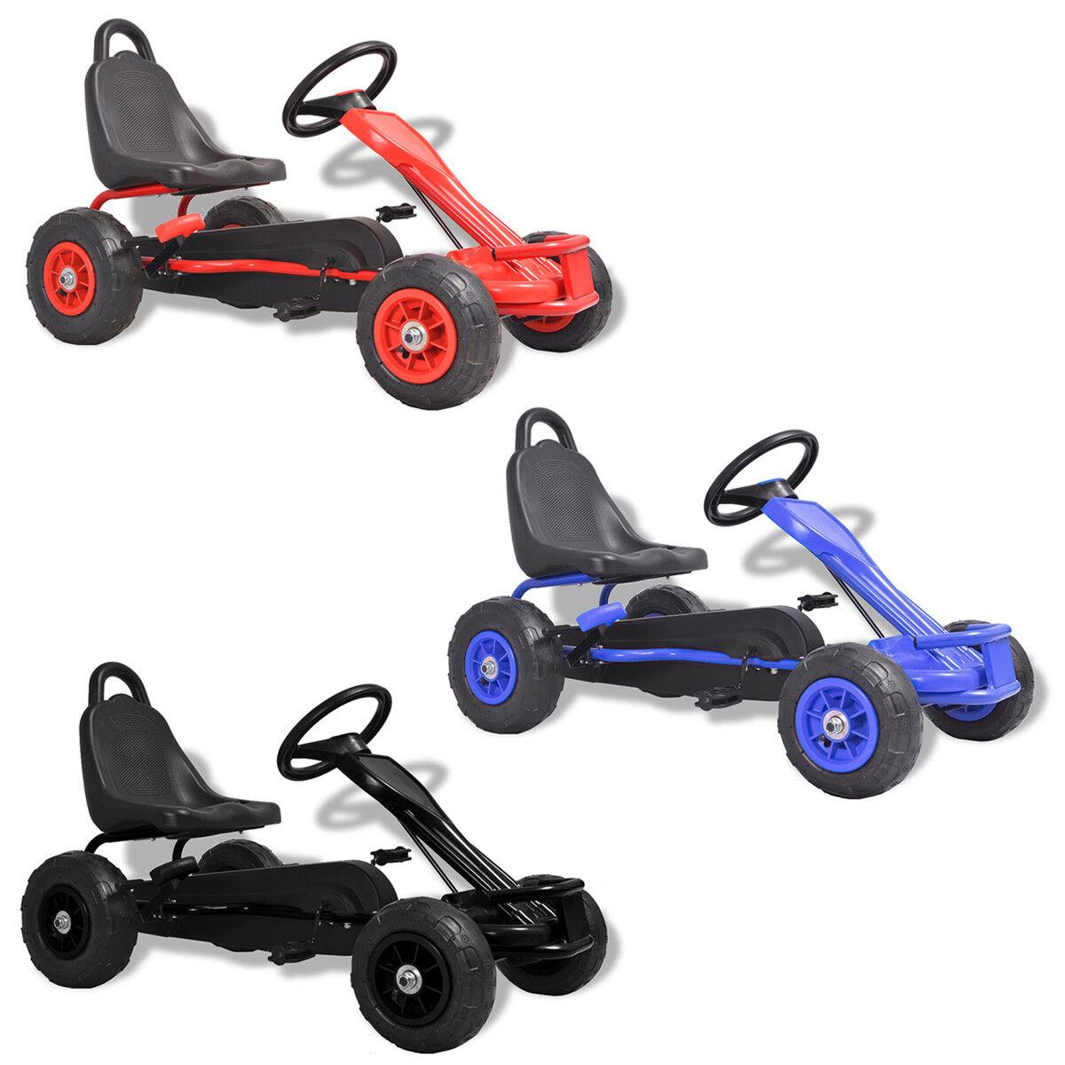 vidaXL Go Kart a Pedali con Pneumatici Gioco da Esterno Bambini Colori Diversi