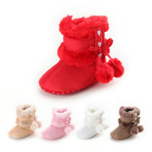 Winter Warm Baby Shoes Boots Girl Boy Snow Booties Antiskid Kids
