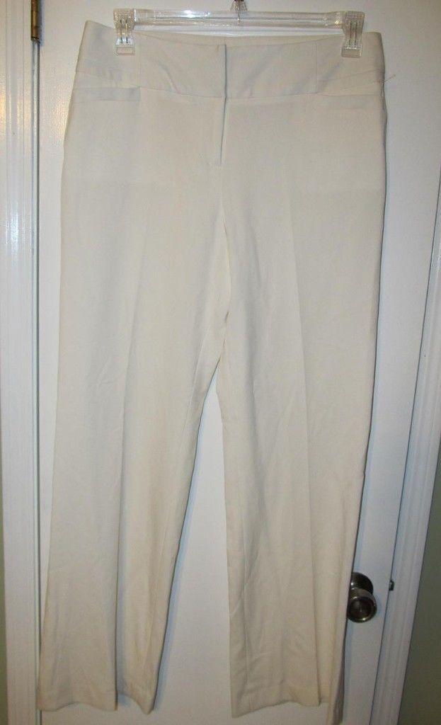FABULOUS ATELIER LUXE IVORY STRETCH DRESS PANTS SZ 6 NWOTS  RETAIL