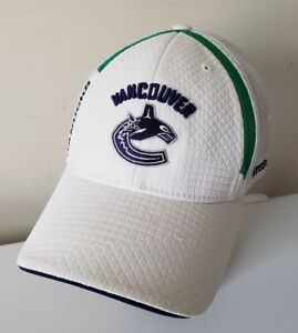 quality design 979b7 07740 Image is loading Vancouver-Canucks-Hockey-Fights-Cancer-Reebok-Embroidered- NHL-