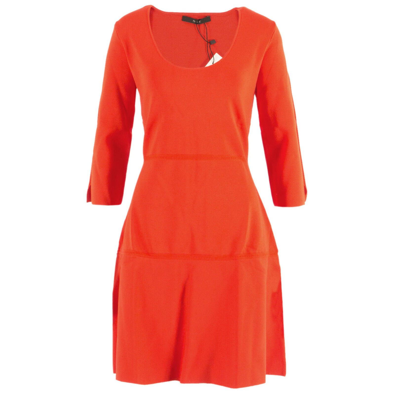 SET Damen Stretchkleid 53087 DunkelOrange   42   Kleid, Cocktailkleid