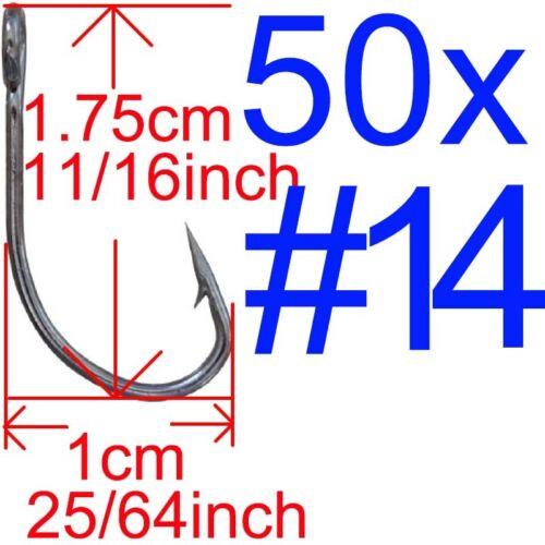 Lot 50pcs Big Eye Single Fishing hooks Opsariichthys hook for Spoon VIB Lure