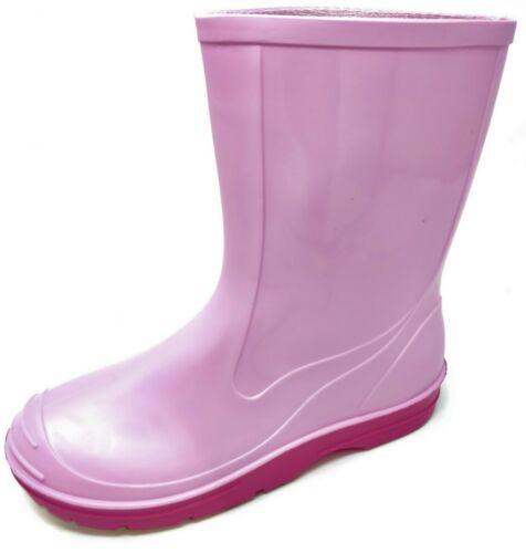 Boys Girls Wellies Teens Kids Childrens Wellington Rain Snow Boots Size 10-2