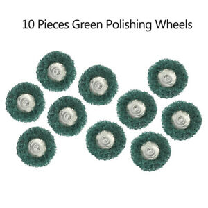 3mm Shank Cloth Polishing Wheel Wool Abrasive Grinding Mop For Rotary Tools 10x
