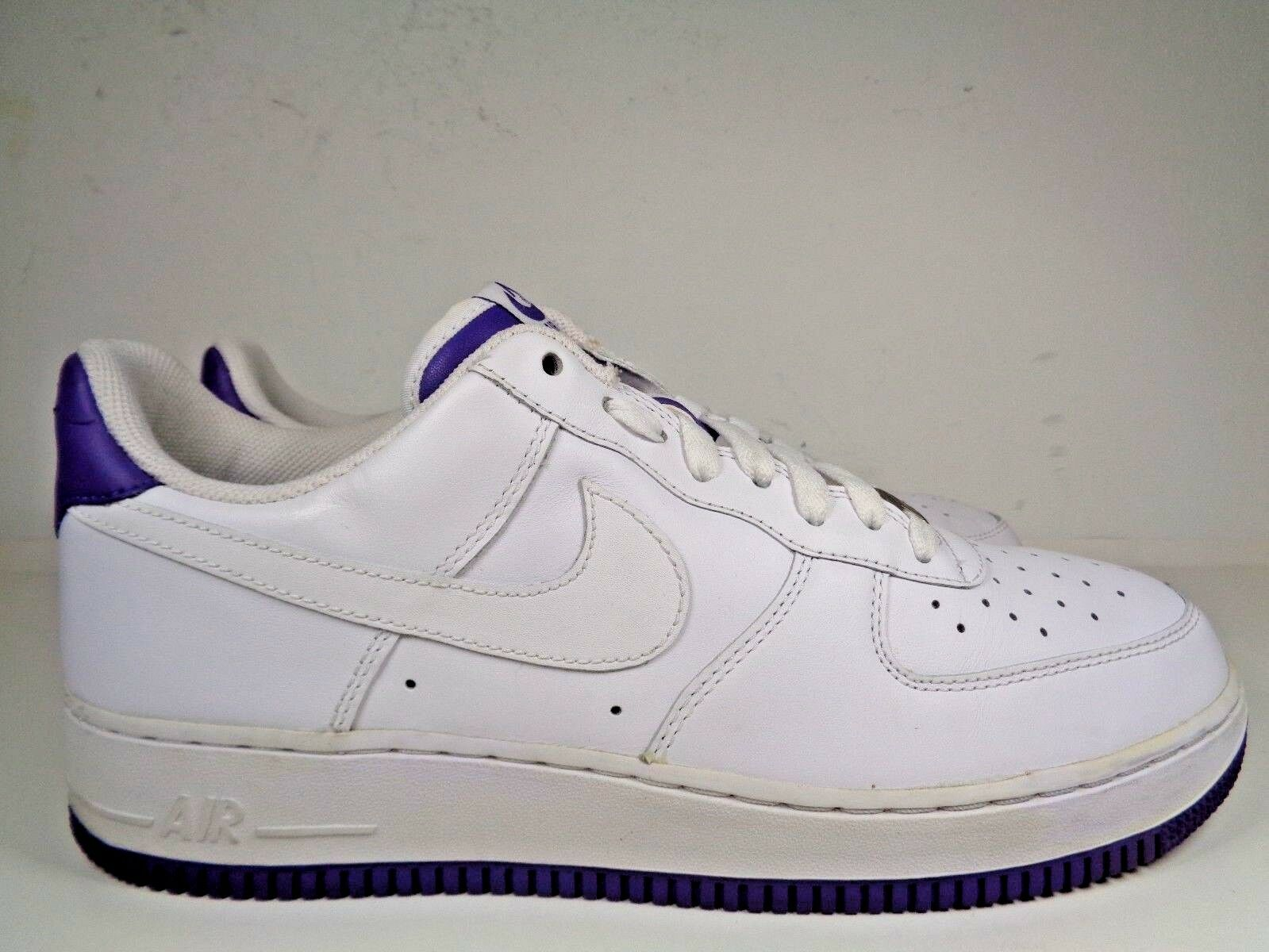 Mens Nike Air Force 1 Varsity Purple Basketball shoes size 10.5 US 315122-115