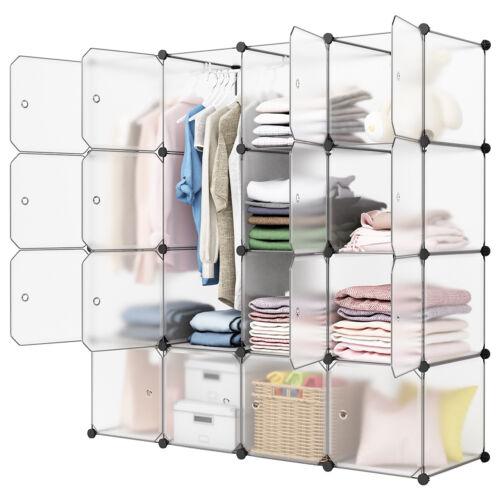 Multi-Cube Modular Closet Organizer Stacker Clothes Wardrobe Rack Shoes Shelving