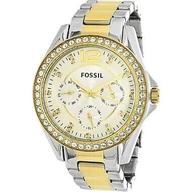Fossil Women's Riley ES3204 Silver Stainless-Steel Quartz Fashion Watch