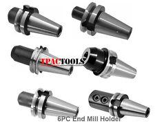 Bt40 End Mill Holder 6pc Set 14 38 12 58 34 1 Pre Banlanced New