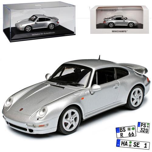 Porsche 911 993 Coupe Turbo Silber Metallic 1993-1998 1//43 Minichamps Maxichamps