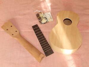 make your own ukulele diy kit japanese quality luthier initiation ebay. Black Bedroom Furniture Sets. Home Design Ideas