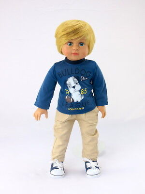 Blue and Yellow Football Outfit for American Girl Boy Dolls
