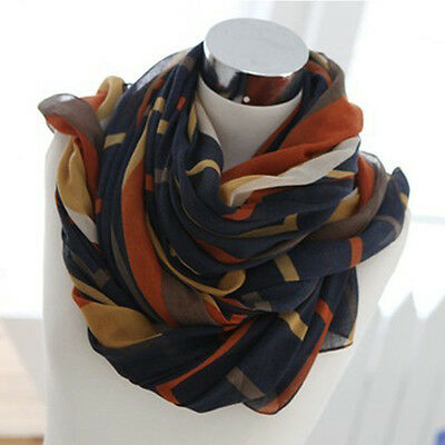 Fashion Women's Long Big Soft Cotton Silk Voile Scarf Shawl Wrap Hot
