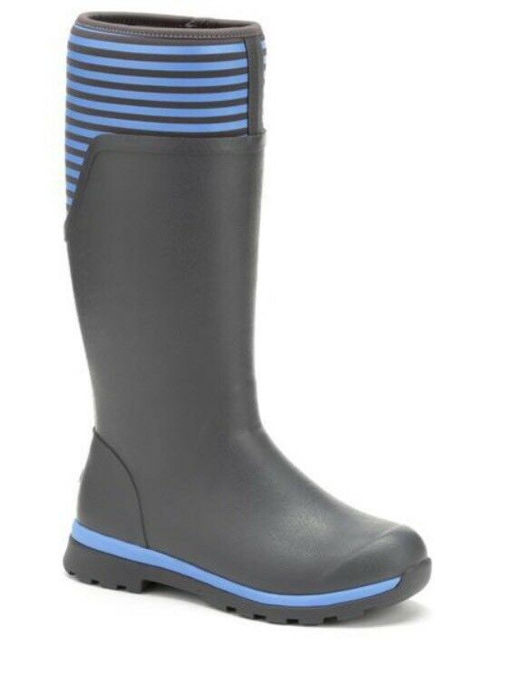"""The Original Muck Boot"" Womens Cambridge  ""WCC-1STR"" Grey bluee Stripes"